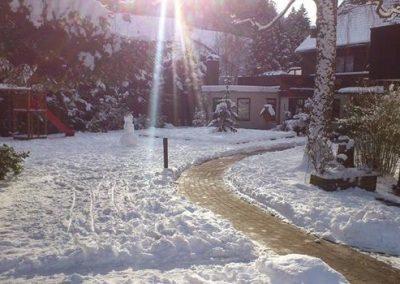 Winterbild Hotel Pension Altes Forsthaus Harz